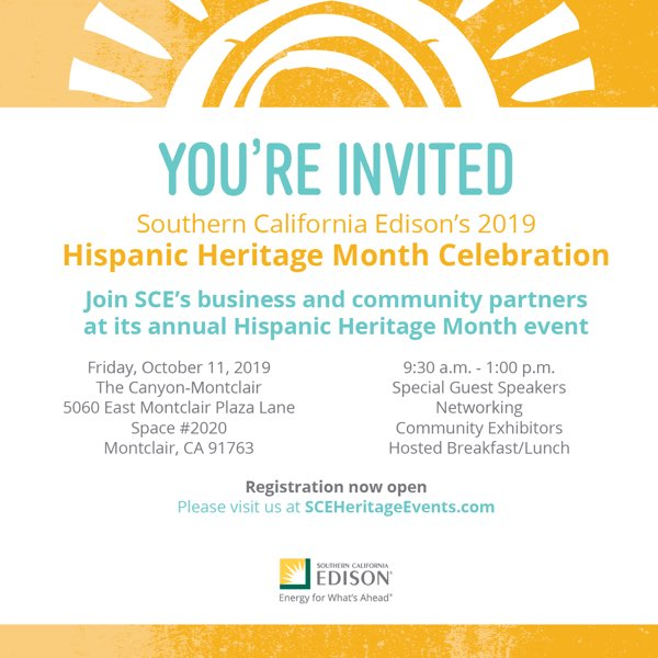SCE's 9th Annual Hispanic Heritage Month | October 11, 2019 • Montclair, CA